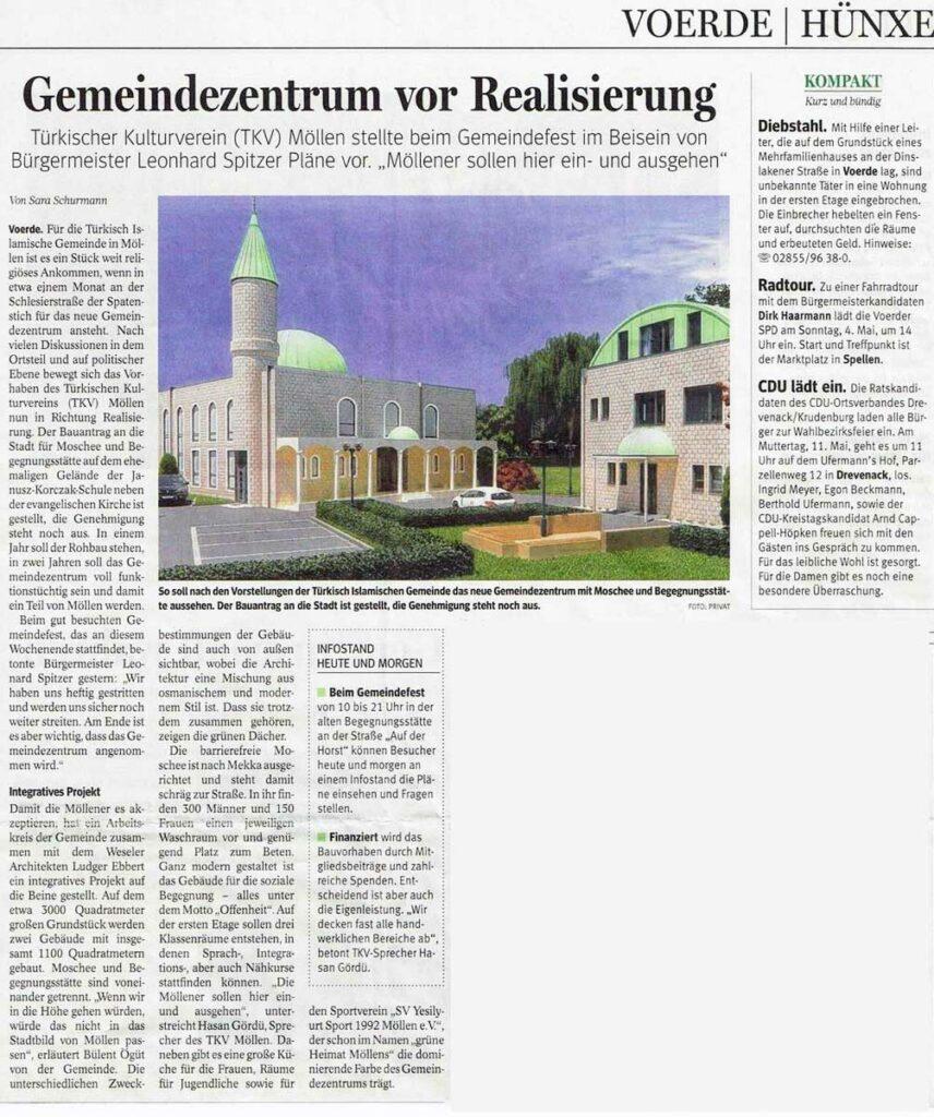 Zeitungsartikel Voerde und Hünxe